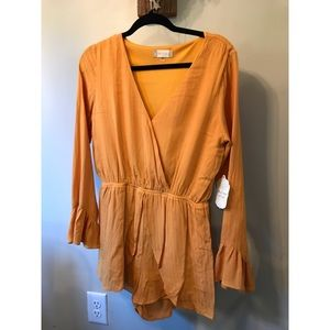 NWT. Altar'd State boho mustard yellow romper
